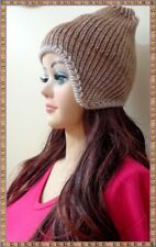 PERU 25 ALPACA REVERSIBLE CHULLO HAT WITH EARFLATS NATURAL COLORS FREE SHIPPING!