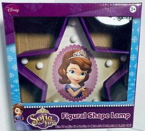 """(1) DISNEY Junior SOFIA THE FIRST Figural Shape Lamp, 8""""×8""""×2.5"""" Ages: 3+ NEW!!!"""