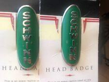 New in Original Package 1995 Schwinn Head Badge Green