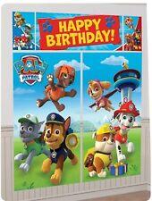 Paw Patrol Mascotas Cumpleaños Escena Setter decoración fiesta de Pared de Banner Kit por Amscan