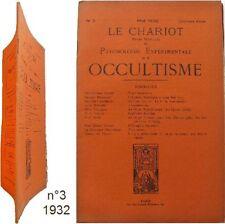 Le Chariot n°3/1932 revue Occultisme psychologie expérimentale astrologie hyleg