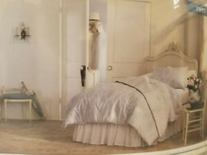 New Simply Shabby Chic Printed Damask Comforter Set Blue/Gray Twin 2 Piece Set