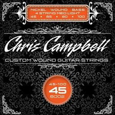 CHRIS CAMPBELL CUSTOM NICKEL WOUND 4-STRING BASS STRINGS #6002 MED-LIGHT GAUGE