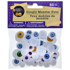 60 Googly Wiggle Monster Eyes Teacher Supply Halloween Craft Decorations