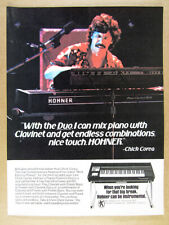 1980 chick corea photo Hohner Pianet-Clavinet DUO vintage print Ad