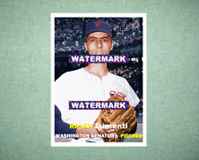 Ralph Lumenti Washington Senators 1957 Style Custom Baseball Art Card