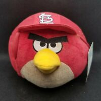"2014 St. Louis Cardinals Angry Birds Red 6"" Plush Stuffed Animal with Tags"