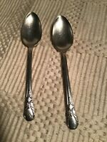 Vintage Silver Plate Rogers Fork 2 Silverplate Spoons Avalon 1940 Wm. Rogers