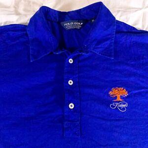 Polo Golf Ralph Lauren Kiawah Blue Collared Shirt Embroidered Logo Men's Size XL