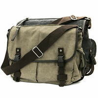 Casual Vintage Canvas Cross Body Messenger Bookbag Shoulder Bag School Men Women
