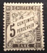timbre TAXE, n°14, 5c noir , Obl, cote 35e