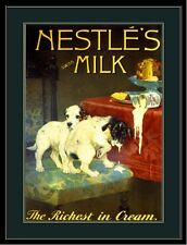 Picture Print Jack Russell Terrier Puppy Dog Nestle's Advertisement Art Poster
