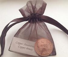 Old Copper Penny in Gift Bag - (7th/22nd) Copper Wedding Anniversary Present
