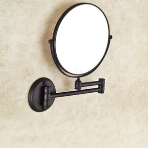 Bathroom Black Oil Rubbed Brass Wall Mounted Beauty Makeup Round Mirror GD726