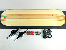 "Blank 8.0"" x 32"" Canadian Maple Skateboard Complete Bottom Smoked Bamboo Stripe"