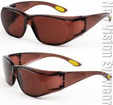 Medium Will Fit Over Most Rx Glasses Sunglasses Blue Block Driving Copper 265