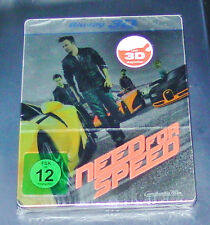 NEED FOR SPEED  3D BLU RAY  LIMITIERTE STEELBOOK EDITION SCHNELLER VERSAND NEU