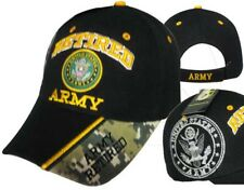 U.S. Army Retired ACU Military Black Embroidered Cap Hat 591 (Lot of 2 Hats)