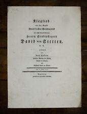 1774 Augsburg Stetten Leichenrede Privatdruck - Klaglied an der Gruft