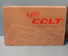88 1988 Dodge Colt owners manual