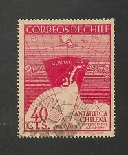 Chile #247 VF USED - 1947 40c Map Showing Chile's Claims of Antarctic Territory