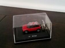 RARE KEY CHAIN MINI COOPER S LIMITED EDITION  RED BRITISH FLAG TOP NEW GIFT NIB