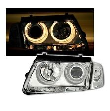 2 FEUX PHARE AVANT ANGEL EYES CHROME VW PASSAT 3B DE 10/1996 A 10/2000