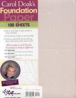 Carol Doak's Foundation Paper: By Doak, Carol