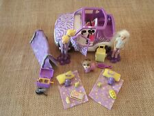 Polly Pocket Lot Dolls Girls Car Vehicle Jeep Purple Camping Accessory Pet X58