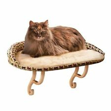 """K&H Pet Products Kitty Sill Deluxe with Bolster Tan 14"""" x 24"""" x 3"""""""