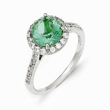 Cheryl M Sterling Silver Cubic Zirconia Paraiba Ring Size 7 #887