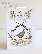Personalised A5 HUNTING AND SHOOTING Birthday Card - Husband Boyfriend Father
