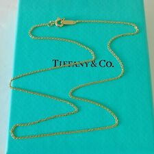 """Authentic Tiffany & Co 18k Yellow Gold Chain Necklace 18"""" -New With Pouch!!!"""