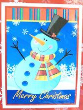 "New listing Christmas House Flag Decorative Merry Christmas 28x40"" Snowman Holiday New"