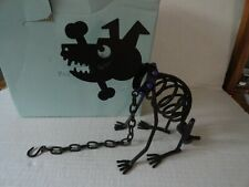 Partylite Sticks Voltive Candle Holder 2 Pc Halloween Dog Bones Chain P8280 New
