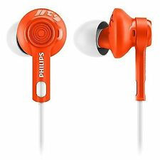 Philips ActionFit Headphone Shq2300or/27 Tangle- Cord Water Resistant Orange