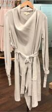 LAURA SIEGAL Women's Silk Pure Linen Trench Coat Extra SMALL New W/o Tags