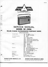 Vintage Panasonic SERVICE MANUAL- Model RF-1006 FM-AM 3-band 10-Transistor Radio