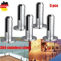 5x Edelstahl Geländerpfosten für Glashalter Glasgeländer Geländerbalkon Pfosten