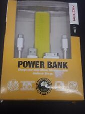 PRECISION POWER BANK 2200 mAH with 3 in 1 cable options - YELLOW