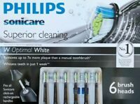 6 Pack Philips Sonicare Diamond Clean Replacement Electric Toothbrush Heads 2019