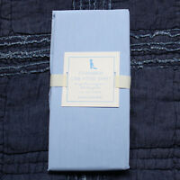 POTTERY BARN KIDS Chambray crib fitted sheet blue
