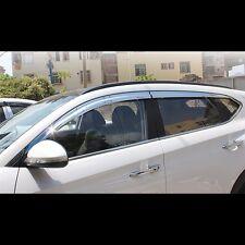 Chrome Window Visor Sun Guard Wind Rain Shield For Hyundai All New Tucson 2016+