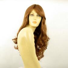 Perruque femme mi longue bouclée blond foncé ref ANGIE en 27