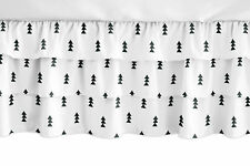 Bear Mountain Black and White Triangle Girl Ruffled Tiered Baby Crib Bed Skirt