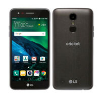 LG Fortune M153 GSM Unlocked Cricket Black 4G LTE Android Smartphone
