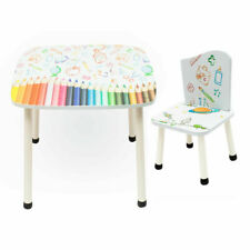 Style Childrens Wooden Table 2 Chairs set - Kids Toddlers Childs - NEW DESIGN