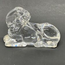 "Baccarat France Clear Crystal Glass 3"" Unicorn Figurine Paperweight"