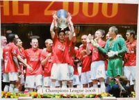 Manchester United Fußball Champions League 2008 Winner Fan Big Card Edition A164