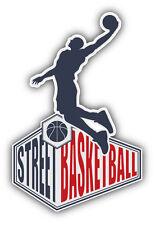 Street Basketball Emblem Car Bumper Sticker Decal 3'' x 5''